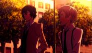 Dazai revealing to Atsushi that Ranpo's ability is fake