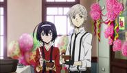 Atsushi and Kyoka at the welcoming party
