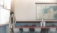 Dazai debriefing Atsushi about the infiltration plan