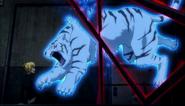 Tiger was cut into half by Akutagawa's Rashomon
