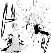 Atsushi tries to attack Koyo (manga)