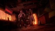 Atsushi and Dazai vs. the big man