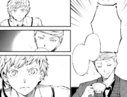 Atsushi tells Fitzgerald of the Agency's innocence (manga)