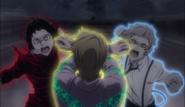 Akutagawa and Atsushi punches Fitzgerald