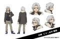 Shirase Anime Character Design