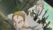Atsushi restrains the fake Pushkin
