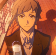Atsushi during the agency's cannibalism aftermath celebration