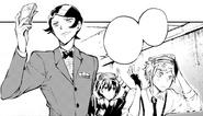 Mushitaro, Kyoka, and Atsushi escape from camera footage (manga)