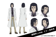 Younger Ogai Mori Anime Character Design