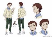 Rokuzo Taguchi Anime Character Design