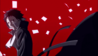 Ending 1 - Book pages scatter around Akutagawa's coat