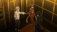 Atsushi, Kyoka, and Akutagawa in the elevator