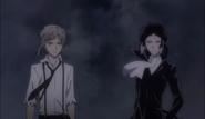 Atsushi and Akutagawa arrives at the Moby Dick's rooftop