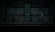 Atsushi encounters Akutagawa at the Moby Dick