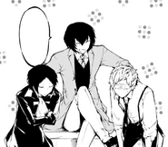 Dazai making Akutagawa and Atsushi work together (manga)