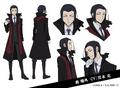 Ogai Mori Anime Character Design