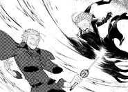 Atsushi severs Fukuchi's arms (manga)
