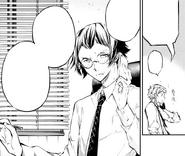 Ango warns Atsushi about a government spy (manga)