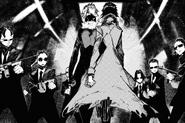 Atsushi leads Akutagawa to the top floor (BEAST manga)