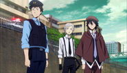 Atsushi and Ranpo arrives at the murder scene