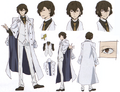 Osamu Dazai (DEAD APPLE) Anime Character Design