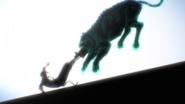 Atsushi defeats Beast Beneath the Moonlight