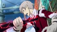 Atsushi removing Rashomon pierced into his body