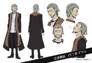 Ryuro Hirotsu Anime Character Design
