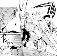 Kenji hit on the head by a gang member (manga)