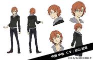 Chuya Nakahara (Fifteen) Anime Character Design