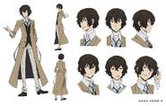 Osamu Dazai Anime Character Design