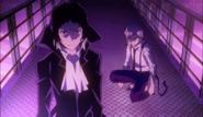 Akutagawa and Atsushi faces Fitzgerald