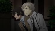 Dazai and Atsushi hiding