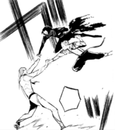 Fitzgerald stops Atsushi and Akutagawa (manga)