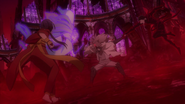 Kyoka and Akutagawa vs. Shibusawa