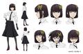 Akiko Yosano Anime Character Design
