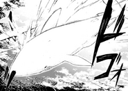 Kyoka crashes the aircraft to Moby Dick (manga)