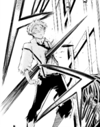 Atsushi's body pierced by Rashomon (manga)