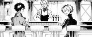 Atsushi and Akutagawa having a conversation (BEAST manga)