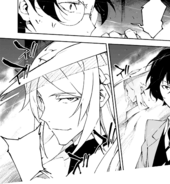 Shibusawa reveals himself to the Special Division (DEAD APPLE manga)
