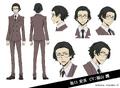 Ango Sakaguchi Anime Character Design