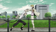 Atsushi tries to attack Fitzgerald