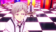 Atsushi telling the man to leave