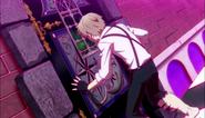 Atsushi tries to open the door