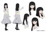 Nobuko Sasaki Anime Character Design