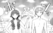 Atsushi and Lucy without clothes (manga)