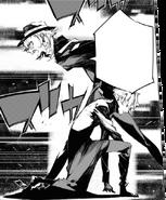 Chuya gives a warning to Atsushi (BEAST manga)