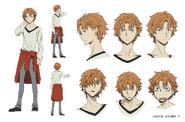 Junichiro Tanizaki Anime Character Design