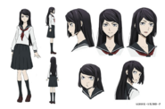 Naomi Tanizaki Anime Character Design
