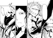 Akutagawa steps on Atsushi (manga)